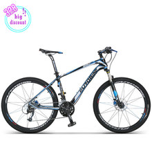 Eurobike CB980 Carbon Frame  Mans Mountain Bike 30 Speed Mountain Bicycle 26'x2.0 Tires Oil Double Disc Brake 12kg Weight