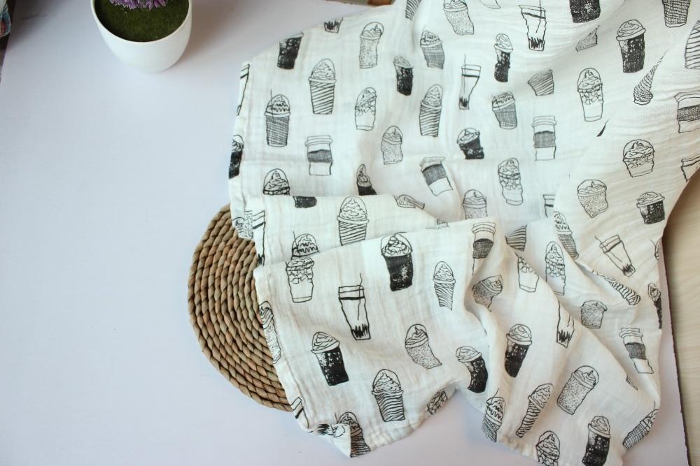 Swaddle Muślin Cotton Baby Swaddle dla noworodka Koc dla dzieci i - Pościel - Zdjęcie 2