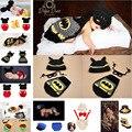 Горячие Продажи Фотография Реквизит новорожденный ребенок Трикотажные Костюм Крючком Новорожденных Бэтмен фотография опора, super hero Hat кабо Набор MZS-16002