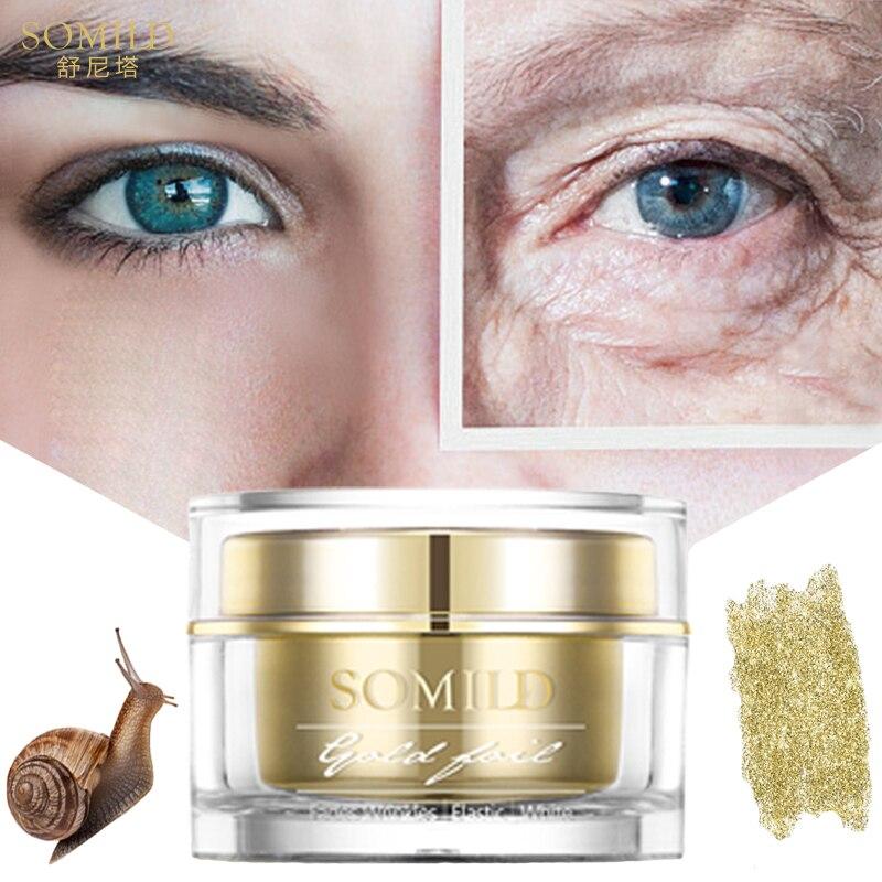 SOMILD 24 karat Gold Gesicht Creme Schnecke Essenz Anti Aging Hautpflege Falten Makel Entfernen Koreanische Kosmetik Augen Creme Gesichts bleaching