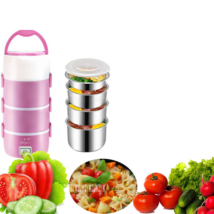 New Arrival Four-layer Electric Lunch Box cfxb-16 Electronic Heating Cooking Stainless  Steel Electronic Lunch Box 220V 250W 2.2