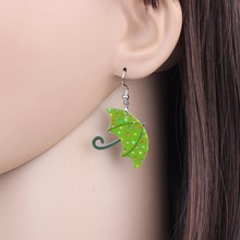 Umbrella Shaped Dangle Earrings
