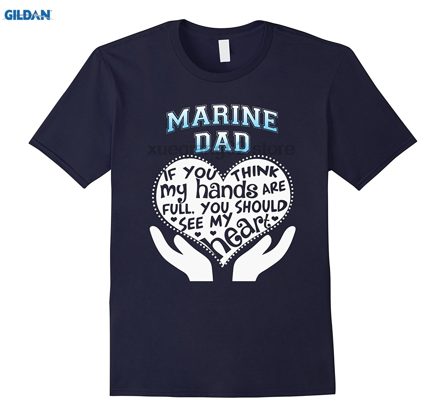 GILDAN Marine Dad Shirt, Fathers Day, Veterans Day, Full Heart