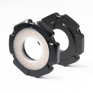 Image 2 - Selens LED video Ring Light 160 Chips Dimmable LED for DSLR DV Camcorder Video 5600K Source Free Lens Adapter Ring Annular Lamp