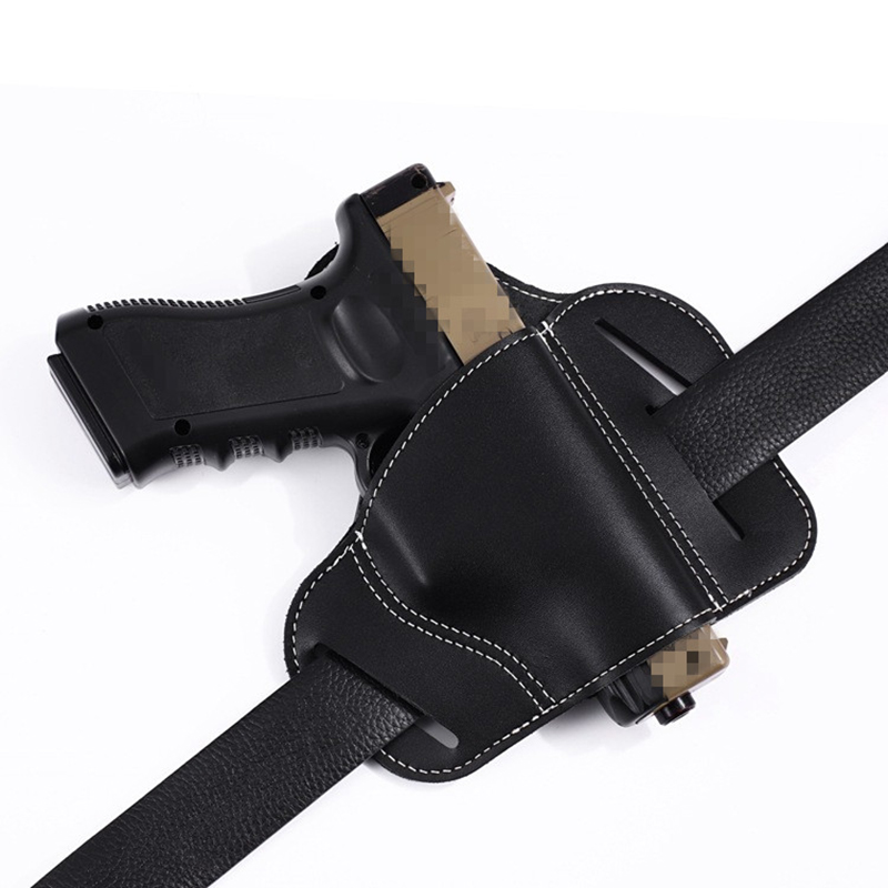 Aliexpress com : Buy Tactical Hunting Airsoft Airgun Pistol Leather Belt  Holster For Glock 17 19 Sig Sauer Most Pistol Gun Holster Right Hand from