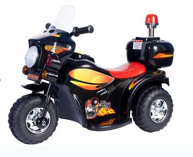 O envio gratuito de 2016 novas crianças motocicleta elétrica com luzes multicoloridas beetle carro bateria elétrica triciclo