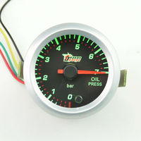 2 Inch 52mm Stepper Motor Auto Motive Oil Temp Gauge Pointer Type Instrument 7 Colour Blacklight
