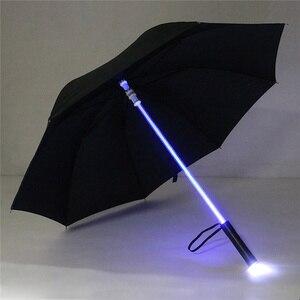 Image 4 - 4 색 크리 에이 티브 led 우산 스타 워즈 lightsaber 비 여자 남자 라이트 플래시 우산 밤 보호 생일 크리스마스 선물