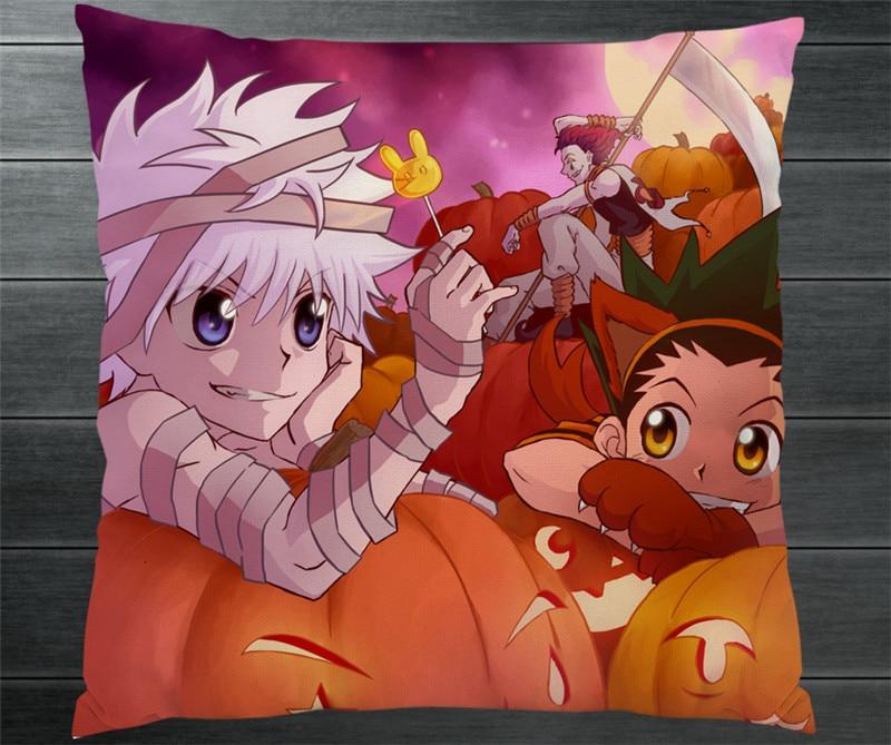 HUNTER X HUNTER GON FREECSS Kurapika Killua Zoldyck Two Sides Pillowcase Manga Anime Pillow Cushion Case Cover Cosplay Gift P17
