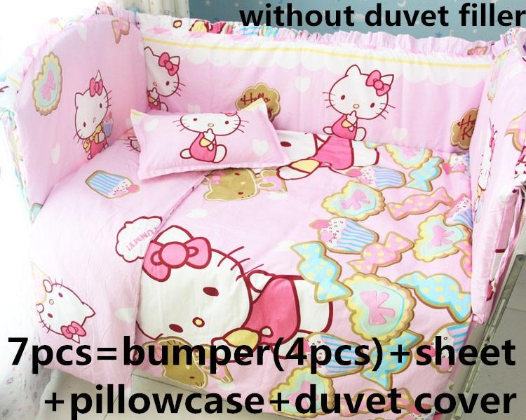 Promotion! 6/7PCS Cartoon Crib Baby Bedding Set for Girl Boy Newborn Baby Bed Linens 100% Cotton, 120*60/120*70cmPromotion! 6/7PCS Cartoon Crib Baby Bedding Set for Girl Boy Newborn Baby Bed Linens 100% Cotton, 120*60/120*70cm
