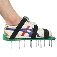 Prostormer Green Lawn Aerator Sandals LAWN AERATOR SHOES Garden Cultivator With Metal buttons Funny Garden tools shoes AMH161