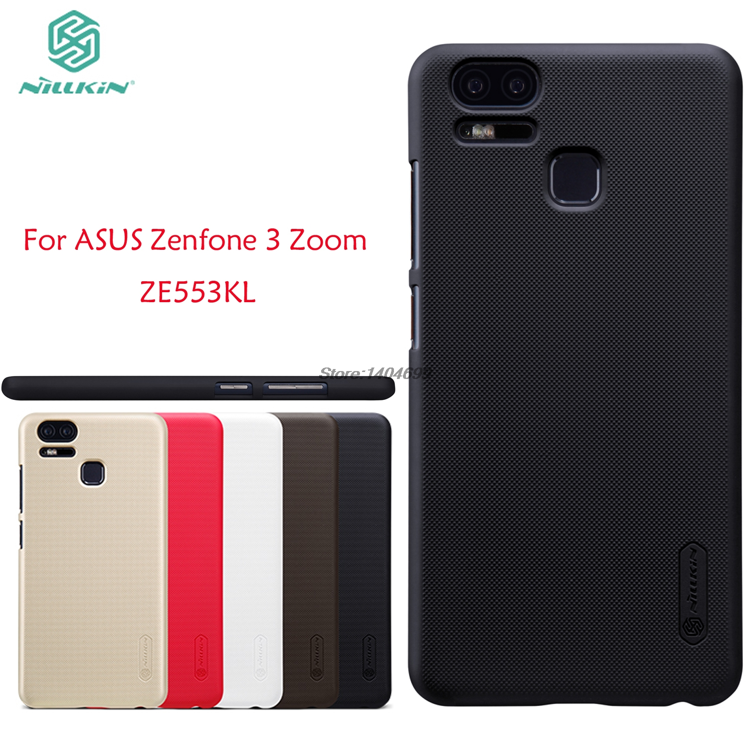 sFor ASUS Zenfone 3 Zoom ZE553KL Case Nillkin Frosted Shield Hard Armor PC Back Cover Case For ZE553KL Gift Screen Protector