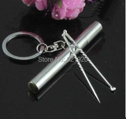 Simple portable toothpick barrel Silver advanced toothpick decorative accessories Creative home accessories