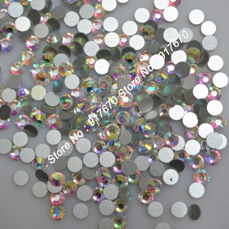 Плоская задняя часть, австрийским искусственным камнем 288 шт./упак. SS30 камень-кристалл AB Стразы, chaton для торжественное платье гвозди