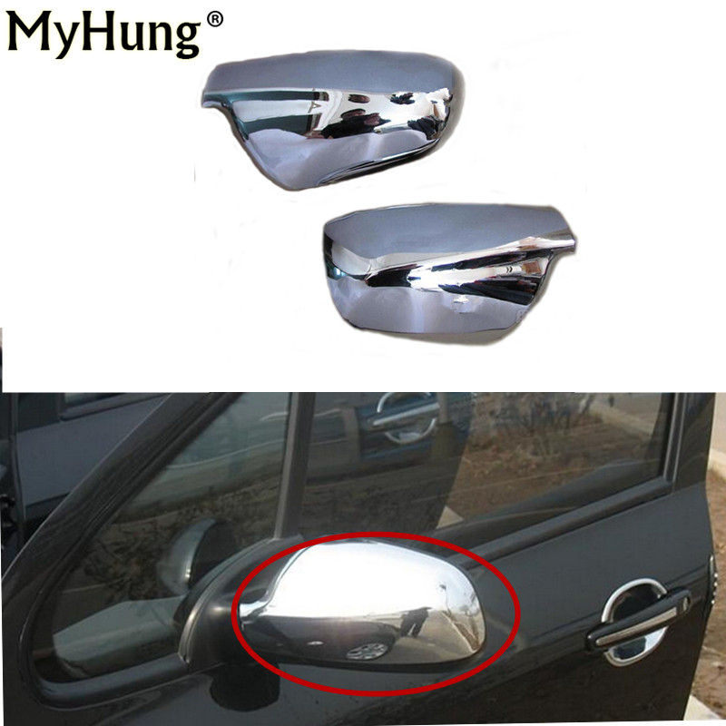 Door Side Wing Rearview Mirror Case Side Mirror Chrome Cover For Peugeot 307 CC SW 407 2004-2012 Accessories 2pcs Car Styling