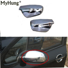 FIT FOR PEUGEOT 307 CC SW 407 DOOR SIDE WING MIRROR CHROME COVER REAR VIEW CAP ACCESSORIES 2pcs/set стоимость