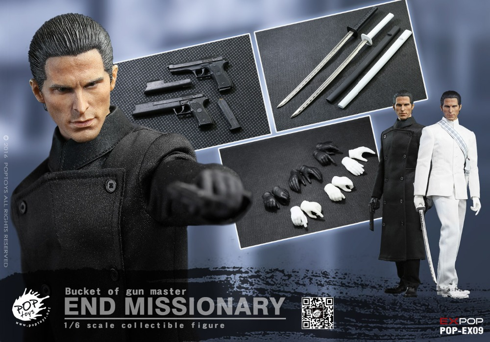1/6 scale figure doll Plastic model toy End missionary Bucket of gun master Christian Bale 12 Action figure Collectible Figure 1 6 scale figure doll terminator3 rise of the machines fembot t x 12 action figure doll collectible model plastic toy