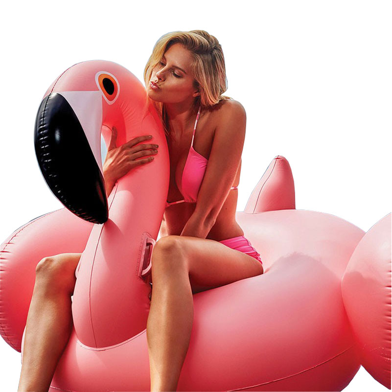 YUYU 150cm Hot Inflatable Flamingo Pool Float Tube Pool Flamingo Inflatable Swimming Pool Swim Ring Pool Toys Swimming Float