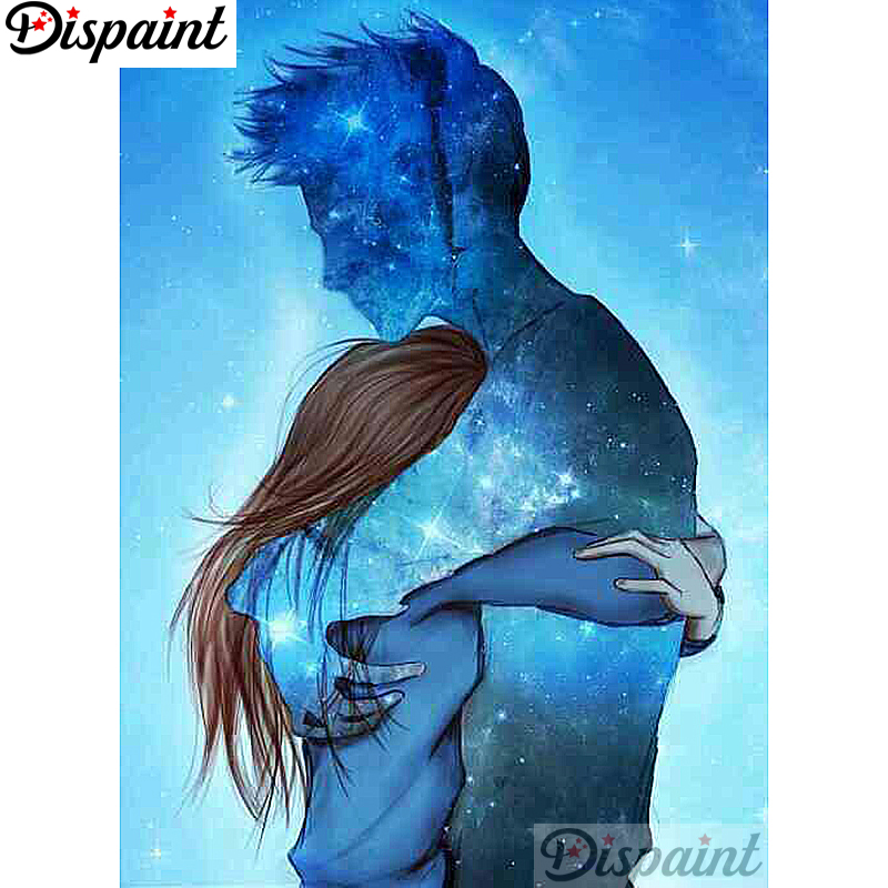 Dispaint Full Square Round Drill 5D DIY Diamond Painting quot Cartoon Anime couple quot 3D Embroidery Cross Stitch Home Decor Gift A12556 in Diamond Painting Cross Stitch from Home amp Garden