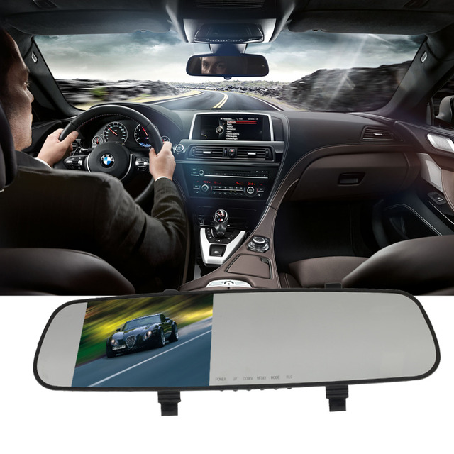 Câmera do carro espelho retrovisor auto carros dvrs dvr estacionamento gravador de vídeo registrator traço cam full hd 1080 p night vision