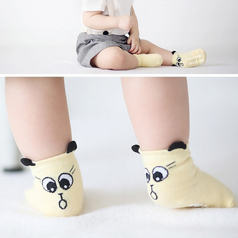 Lovely Animal Baby Socks with Rubber Soles Toddler Boys Girls Anti Slip Socks Newborn Baby Floor Wear Cute Sock for Kids 0-2Y