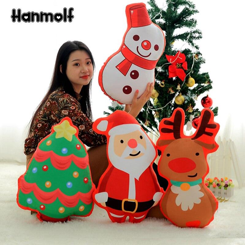 Radient Santa Claus/elch/schneemann/weihnachten Baum Plüsch Kissen Weihnachten Xmas Party Prop Home Kinder Bett Sofa Stuhl Dekor Kissen Sammeln & Seltenes Stofftiere & Plüsch