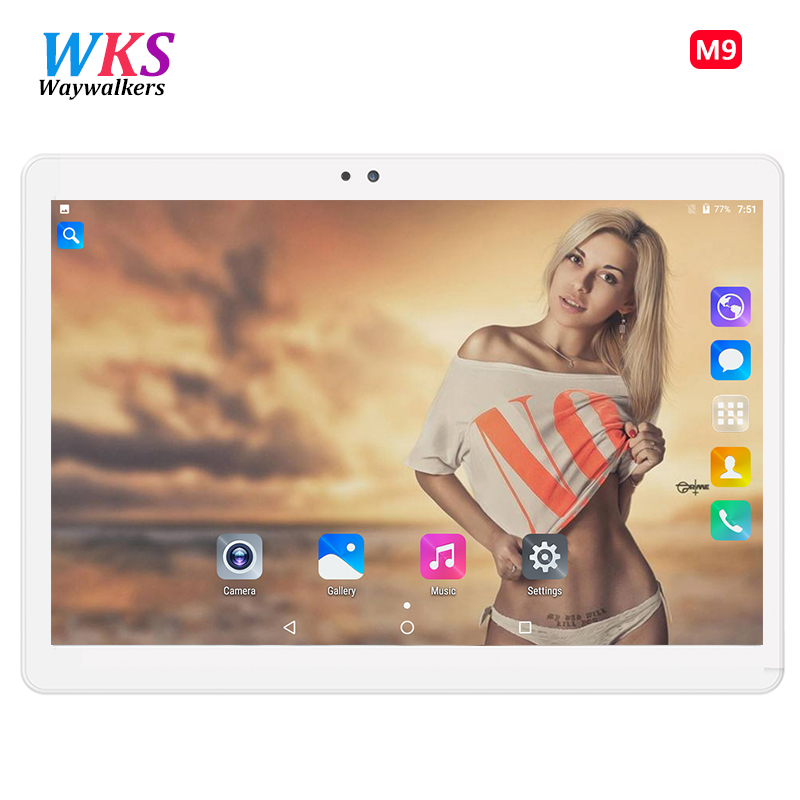 WAYWALKERS New 10.1 inch Original Design Phone Call Android 7.0 Octa Core IPS PC Tablet WiFi 4G+64G 7 8 9 10 android Tablet PC цена
