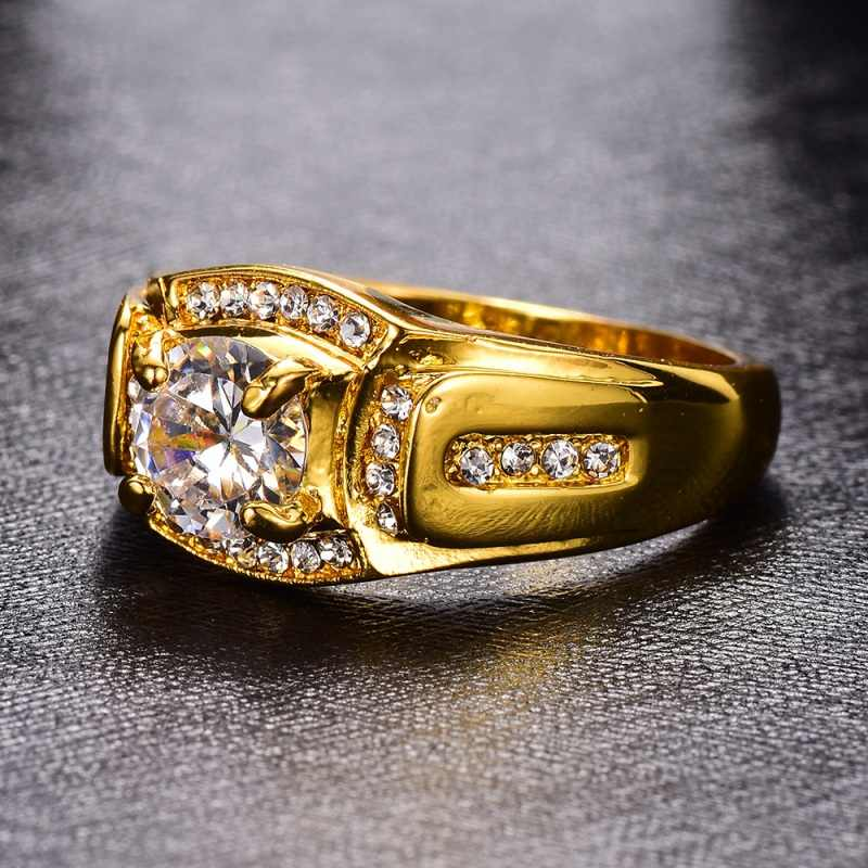 Hommes femmes luxe anneaux nouveautés or anneaux classique mode Dimond anneau pour hommes strass mariage et fiançailles