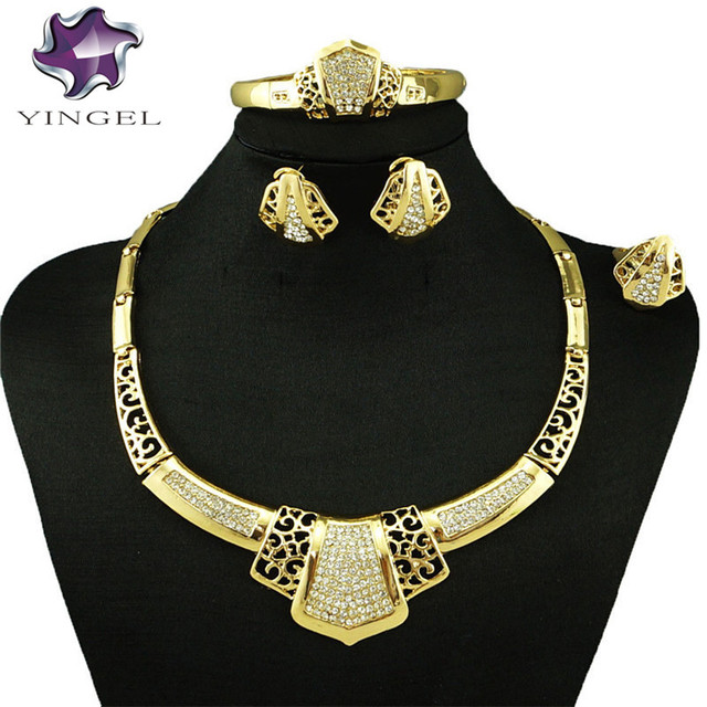 fashionable gold jewelry set cheap wholesale african big design