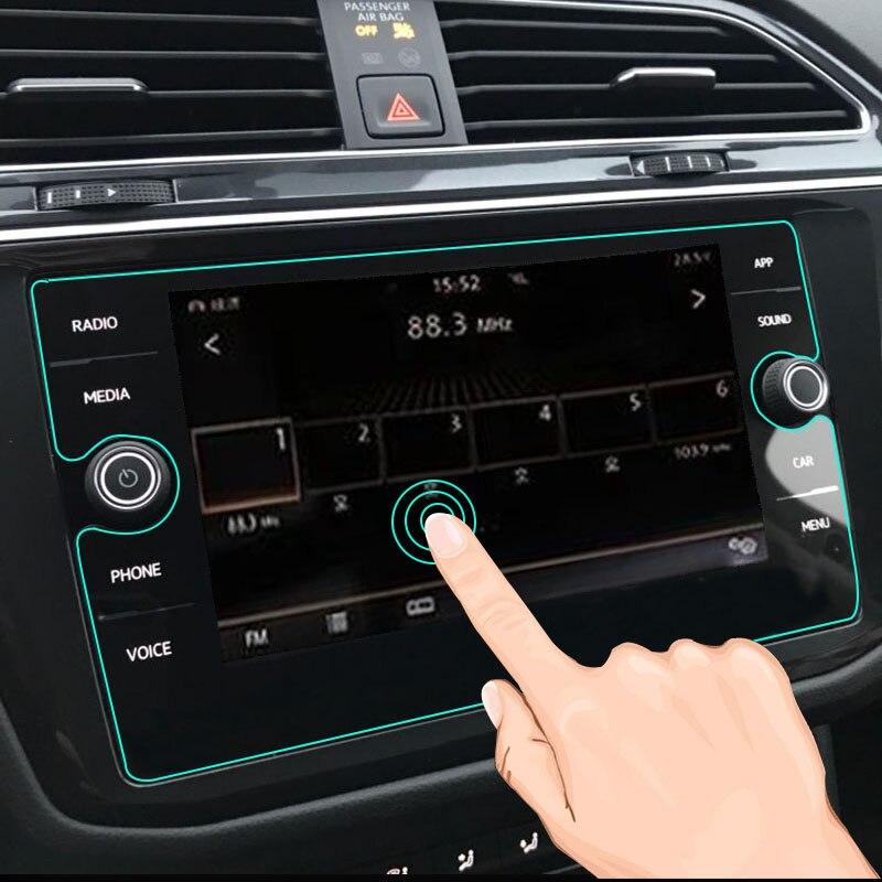 8 pouces pour Volkswagen Tiguan Atlas 2018 2019 verre trempé voiture Navigation écran protecteur LCD écran tactile Film protecteur