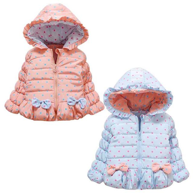 2aeec8d46 New Fashion Baby Girls Jackets Bow Tie Autumn Winter Jacket Kids ...