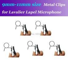 5pcs Spare Replaceable 9mm-11mm Size Metal Clips Mic Clip for Audio Technica etc. Lavalier Lapel Microphones