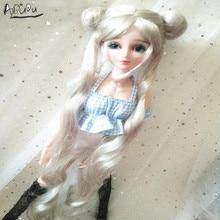 9 10 Polegada bjd boneca peruca cavalo duplo prata cor sailor moon peruca pullip