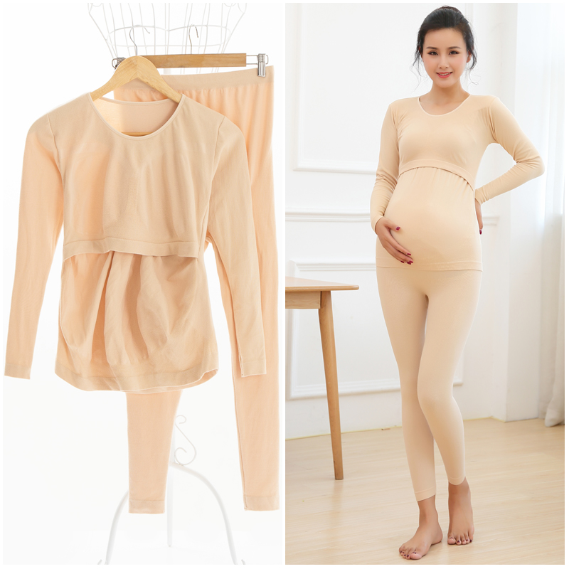 2018 spring moms maternity clothes maternity nightgown breastfeeding pregnancy sleepwear for pregnant women nursing pajamas set