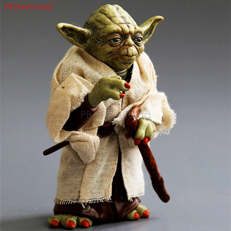 12CM Master Yod Figure Star War character movable Model Toys PVC collectible Action Figure Movie Peripherals Children Toys HB56