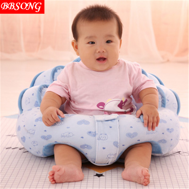 BBSONG New Baby Children Soft Seat Learning To Sit Sofa Kids Plush Supportive Chair Infant Keep Sitting Posture Comfortable Seat