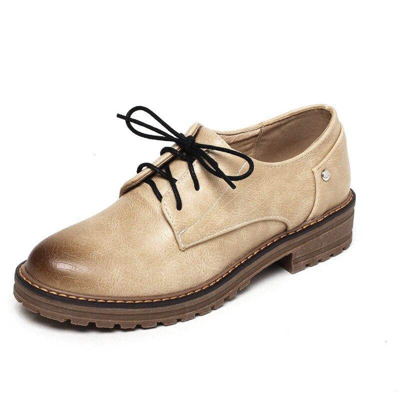 Herzhaft 25-61 Oxfords Schuhe Für Frauen Wohnungen Qualität Plus Größe Flache Schuhe Frauen