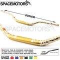 "Gold Mulisha 1-1/8"" fatbar handlebar 28mm moto cross enduro pitbike dirtbike handle bar RMX DR DRZ RM JR  85 125 200 250 400 650"