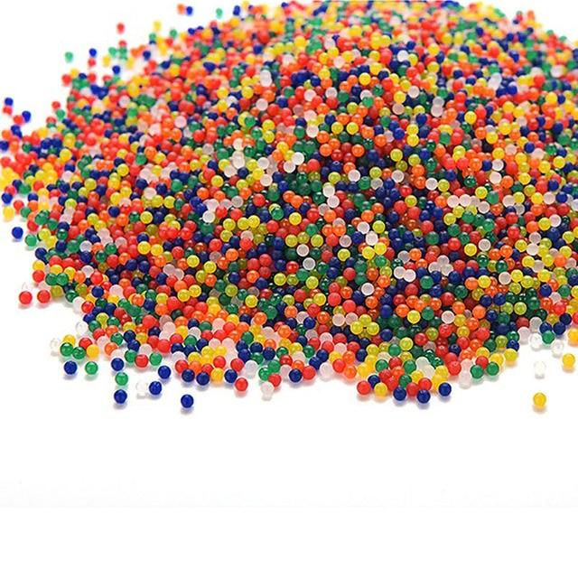 10000Pcs/Bag Pearl Shaped Crystal Soil Water Beads Mud Grow Magic Jelly Balls Home Decor Aqua Soil Wholesales