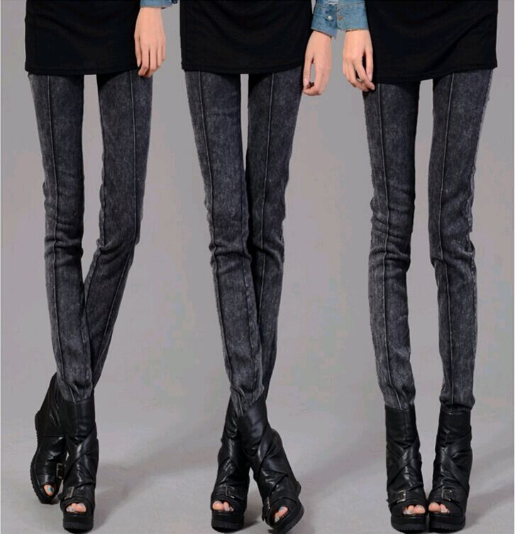 3e245757936 Black Jegging Jeans for Women 2014 Ribbed Thighs Light Wash Design Two  Colours Three Size with High Elasticity-in Leggings from Women s Clothing  on ...