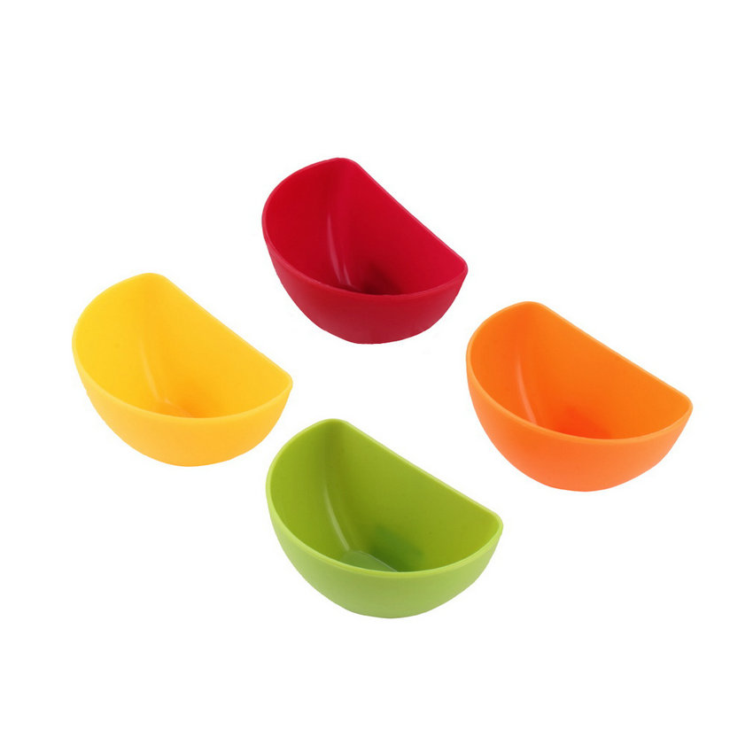 2017 Hot Sale 4Pcs/set Dip Clips Kitchen Bowl Kit Tool Small Dishes Spice Clip for Tomato Sauce Salt Vinegar Sugar Flavor Spices