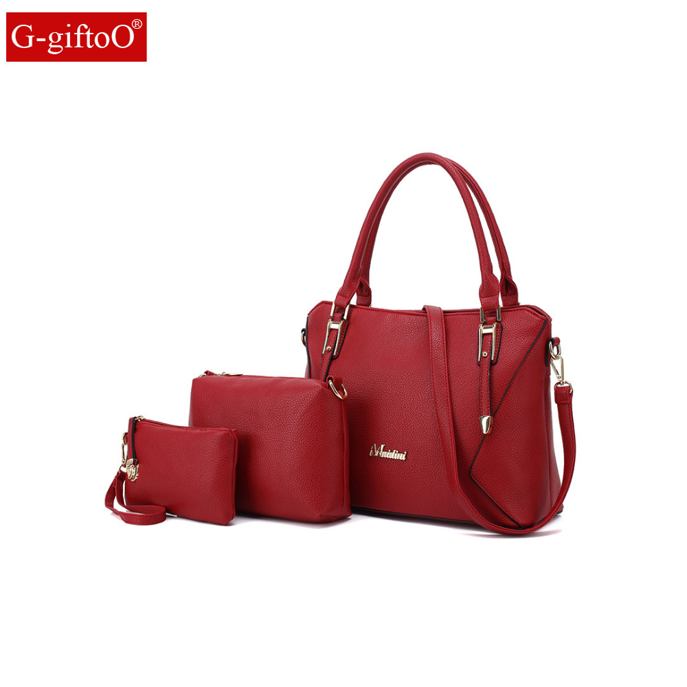 famous brand women bag top-handle bags fashion lady messenger handbag set PU Leather composite bag bolsa femina 2pcs/set аксессуар защитная пленка iphone 6 plus 6s plus litu матовая