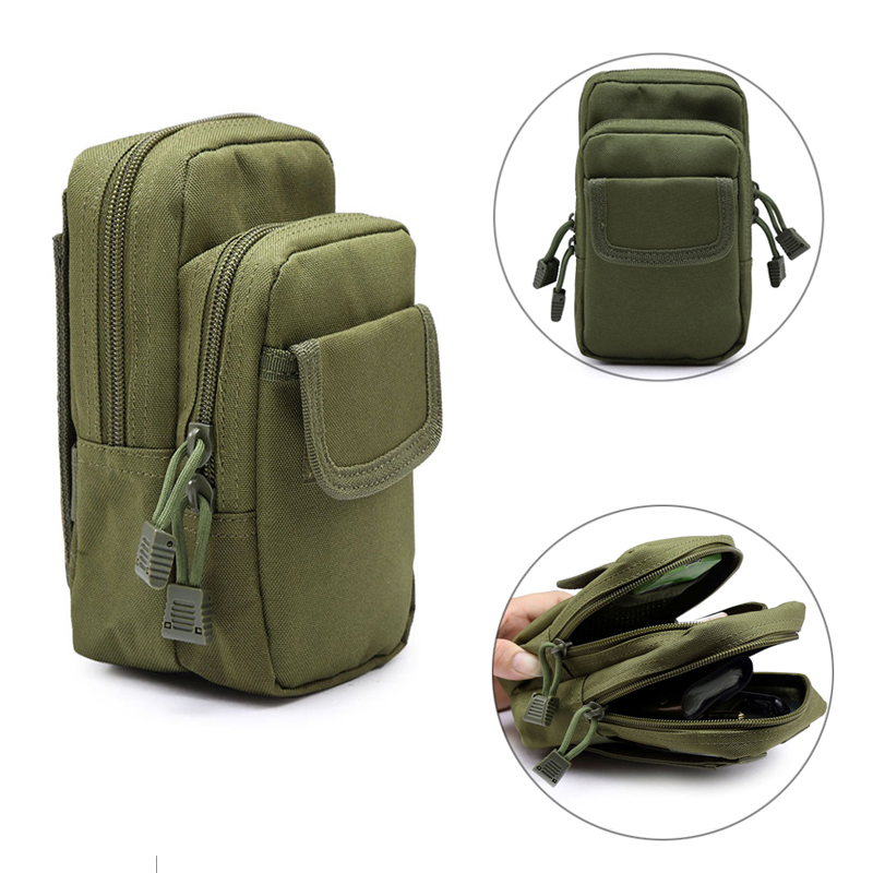 Outdoor Tactical Military 600D Nylon EDC Molle Waist Bags Mobile Phone Utility Sundries  ...