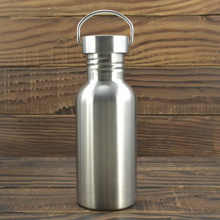 Stainless Steel Wide Mouth Sports Water Cup Outdoor Cycling Hiking Bottle