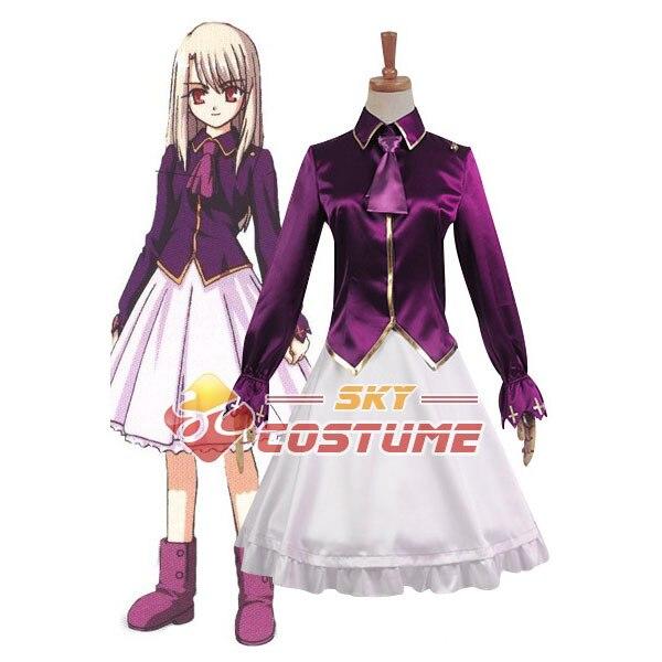 Fate/stay night Illyasviel von Einzbern Unform Outfit Cosplay Costume Coat OutWear Dress Jacket New Arrival Custom Made Full Set
