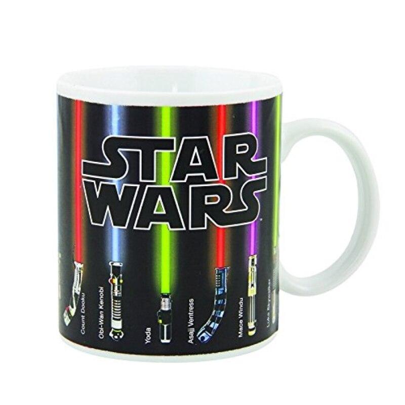 Lightsabers Appear With Heat Color Change Porcelain Mug Star Wars Ceramic Coffee Mug creative coffee cup