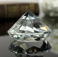 High Quality Handmade 100MM Clear Glass Diamond Crystal Pure Diamond Paperweight Desk Table Decoration Festival