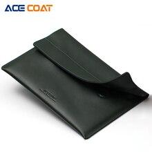 ACECOAT разделение Leath Laptop Sleeve сумка с ручкой и карманами для MacBook Air/Pro 15,4 retina 13,3 дюймов/тетрадь чехол