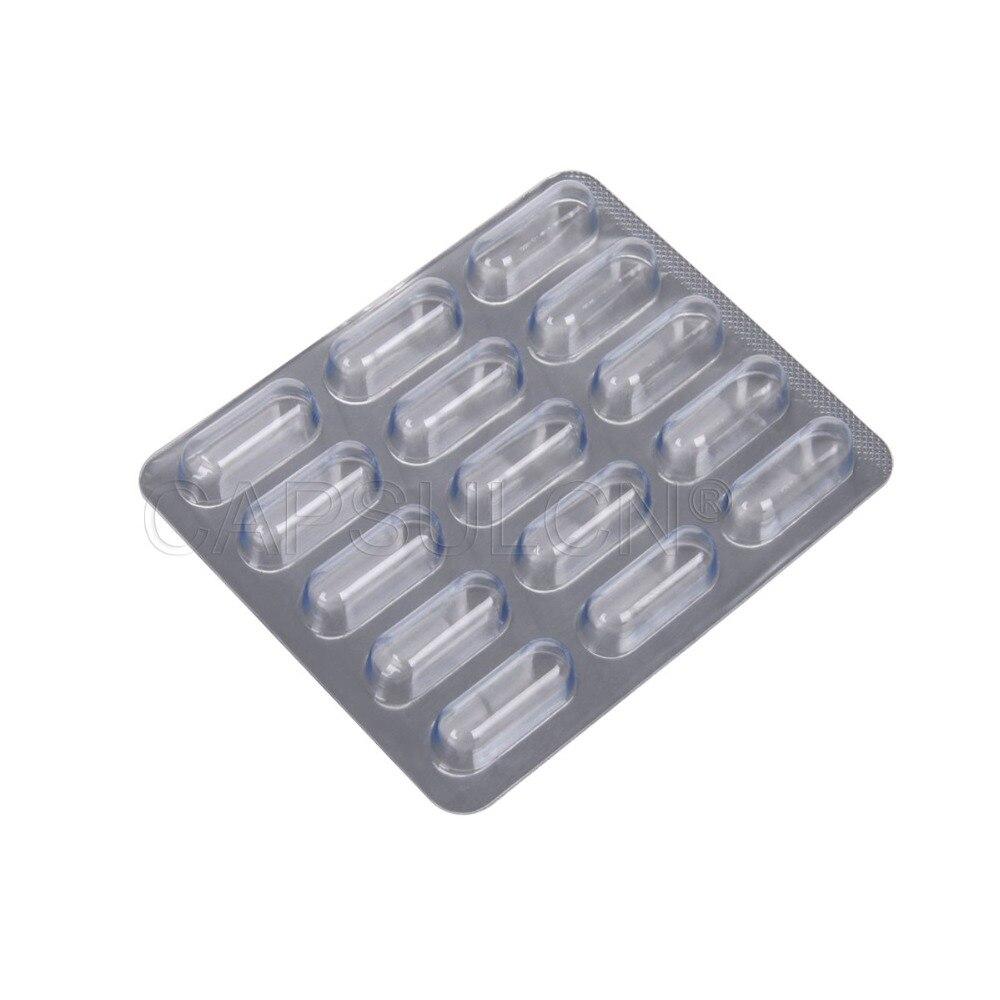 1000 шт/коробка для капсул (Размер 2 #) блистер, капсульный блистер упаковочный лист для капсул с 15 отверстиями