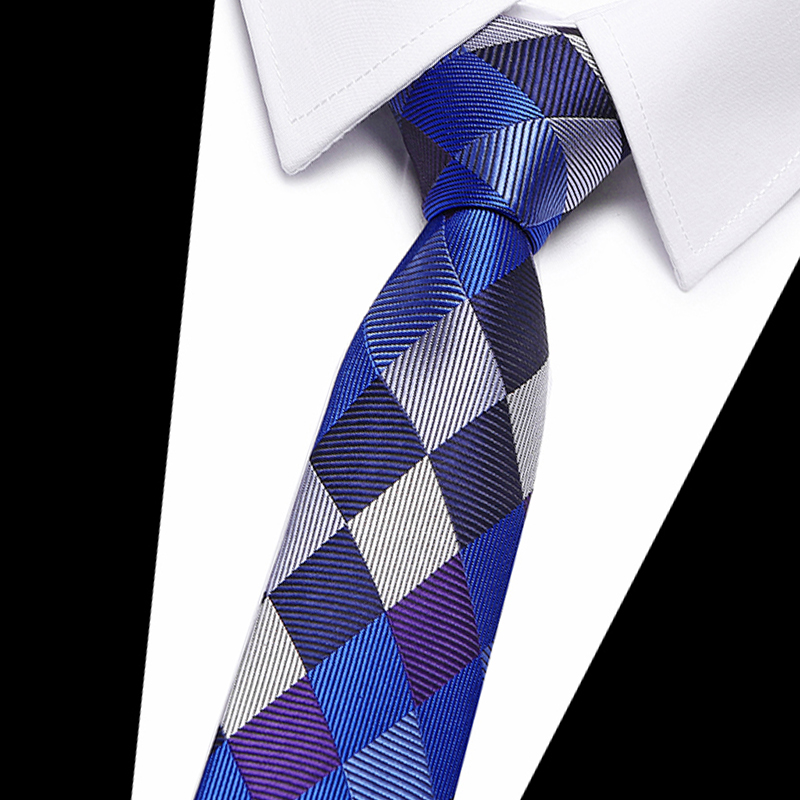 New Slim Luxury Tie 100% Silk Jacquard Woven Ties For Men 7.5 Cm Striped Neckties Man's Neck Tie For Wedding Business